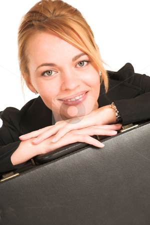 Businesswoman #255 stock photo, Blonde business lady in formal black suit. by Sean Nel