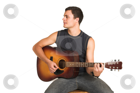 Franscois Booysen #11 stock photo, Young man with guitar. by Sean Nel