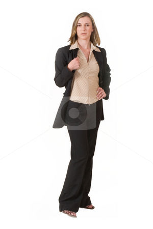 Business Lady #120 stock photo, Business woman in black suit by Sean Nel