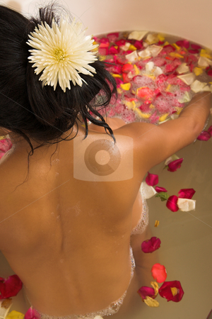 Woman #55 stock photo, Nude woman in a bath. by Sean Nel