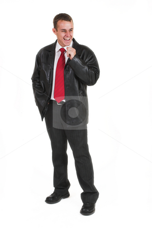 Business man #3 stock photo, Business man in a suit by Sean Nel