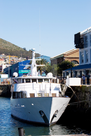 Harbour #20 stock photo, Boat at Cape Town Harbour, South Africa by Sean Nel