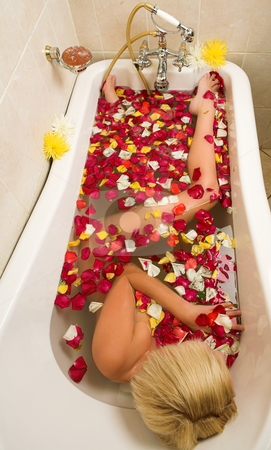 Woman #145 stock photo, Nude woman in a bath. by Sean Nel