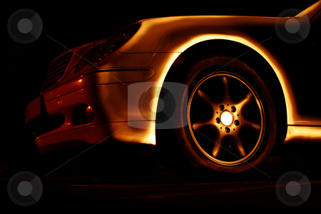 Transport 01 stock photo, Luxury vehicle - Light painted - Not photoshop by Sean Nel
