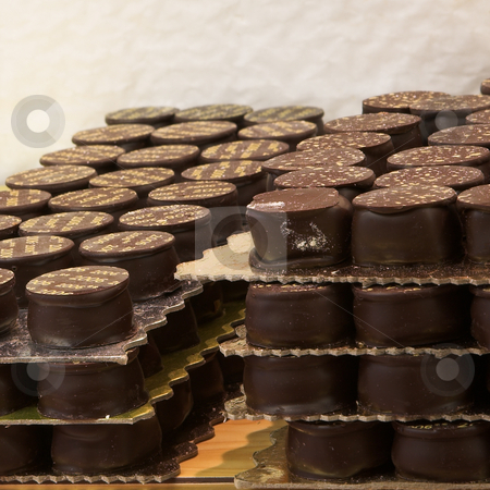 Pastry #27 stock photo, Chocolate trays in a French Patisserie and Chocolaterie by Sean Nel