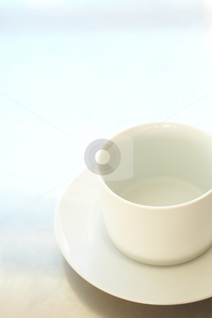 Empty white coffee cup stock photo, Empty white ceramic coffee cup ? Shallow Depth of Field, focus on rim of the cup by Sean Nel