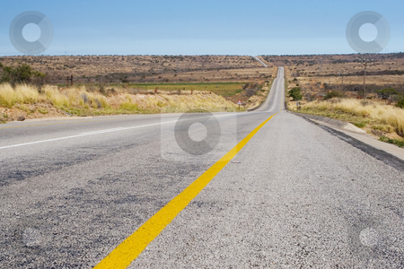 Cape roads #5 stock photo, Desolate road just outside Colesberg, South Africa by Sean Nel