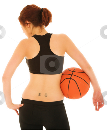 Basketball Girl #5 stock photo, Sexy Girl with Basketball and Black top by Sean Nel