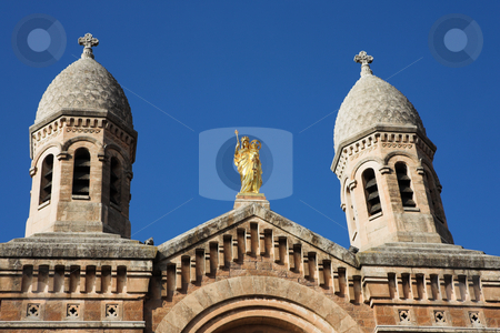 StRaphael #20 stock photo, The Victoire de Lepante Cathedral in Victory Square, St Raphael, France by Sean Nel