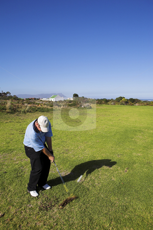 Golf #28 stock photo, Man playing golf. by Sean Nel