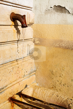 Cannes #12 stock photo, Old public drinking fountain in Cannes, France by Sean Nel