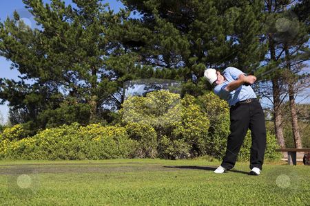 Golf #36 stock photo, Man playing golf. by Sean Nel