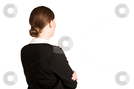 Business Woman #211(GS) stock photo, Business woman dressed in pinstripe suit by Sean Nel