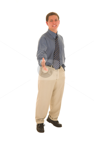 Businessman #94 stock photo, Businessman greet with a smile. by Sean Nel