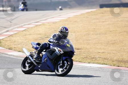 Superbike #72 stock photo, High speed Superbike on the circuit  by Sean Nel