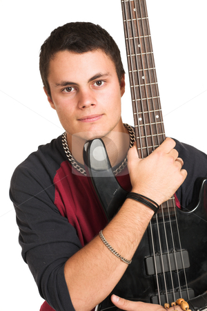 Franscois Booysen #7 stock photo, Young man with guitar. by Sean Nel