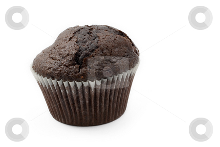 Food #17 stock photo, A single Chocolate Chip muffin on a white background by Sean Nel