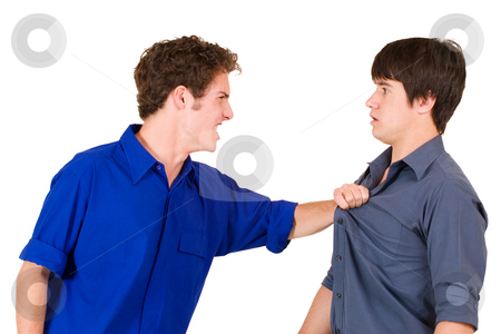 Business People #19 stock photo, Two business partners, fighting by Sean Nel