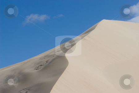 Dunes #10 stock photo, Sand Dunes and Blue Sky by Sean Nel