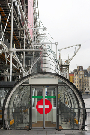 Paris #72 stock photo, The Centre Pompidou Industrial structure (museum) in Paris, France. Gloomy Winter Day by Sean Nel