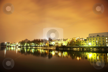 Regensburg#46 stock photo, Night scene, lights and buildings in Regensburg by Sean Nel