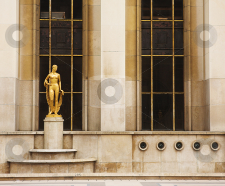 Paris # 71 stock photo, An old building with golden statues in Paris, France. by Sean Nel