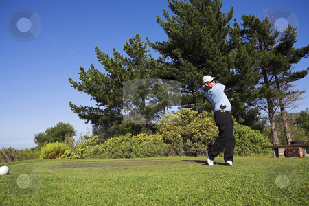 Golf #39 stock photo, Man playing golf. by Sean Nel