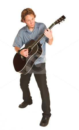 David Badenhorst #16 stock photo, Young man with guitar. by Sean Nel