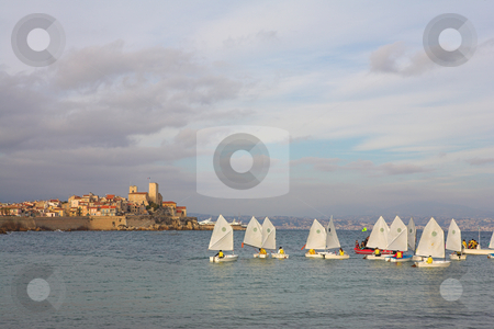 Sailboats #01 stock photo, Sailboats in the Harbour Cote d'Azure by Sean Nel