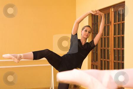 Ballerina #57 stock photo, Ballerina dancing in front of a mirror by Sean Nel