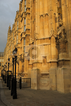 Westminster #3 stock photo, The buildings of the House of Parliament by Sean Nel