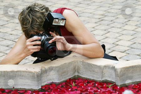 Wedding photographer stock photo, Female wedding photographer by Sean Nel