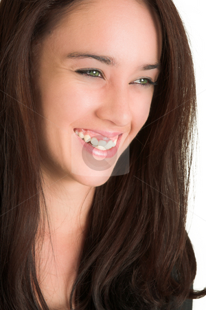 Business Woman #520 stock photo, Portrait of a brunette woman, smiling. by Sean Nel