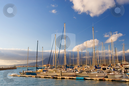 Harbour #15 stock photo, Boats at Knysna Harbour, South Africa by Sean Nel