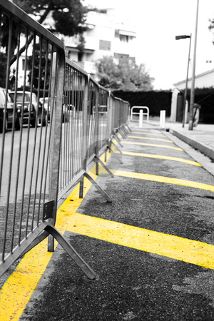 Parking barrier stock photo, Parking barrier on a road in Antibes, France by Sean Nel