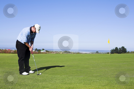 Golf #13 stock photo, Man playing golf. by Sean Nel