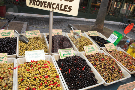 StRaphael #6 stock photo, Fresh olives on the open air market by Sean Nel