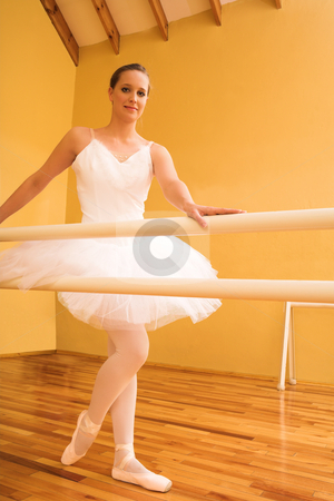 Ballerina #09 stock photo, Lady doing ballet in a dance studio by Sean Nel