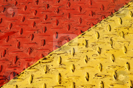 Catwalk stock photo, Red and yellow Catwalk by Sean Nel