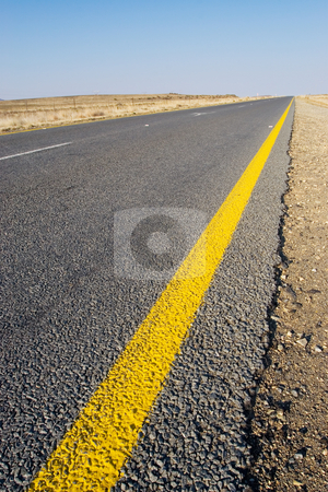 Cape roads #7 stock photo, Desolate road just outside Colesberg, South Africa by Sean Nel