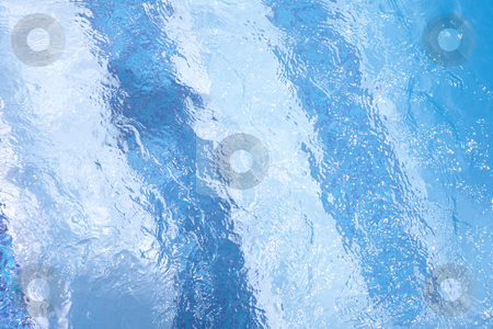 Rippled water background stock photo, Blue texture of water in a swimming pool with specular highlights by Sean Nel