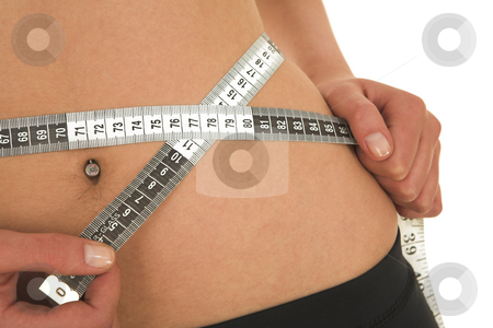 Gymbunny #40 stock photo, Woman with measuring tape by Sean Nel