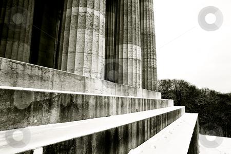 Regensburg18 stock photo, Pillars of Regensburg, Germany, Black and White, Black-and-white by Sean Nel
