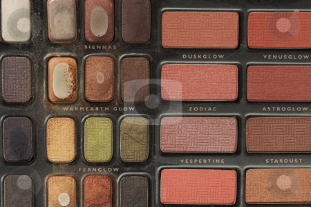 Makeup #11 stock photo, Makeup and cosmetics colour palette by Sean Nel
