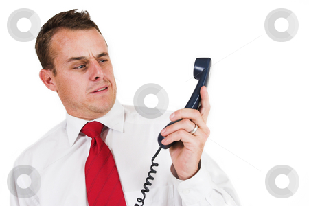 Businessman #43 stock photo, Business man being shouted at on the phone by Sean Nel