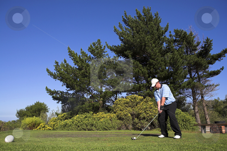 Golf #46 stock photo, Man playing golf. by Sean Nel