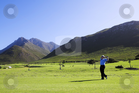 Golf #04 stock photo, Man playing golf. by Sean Nel