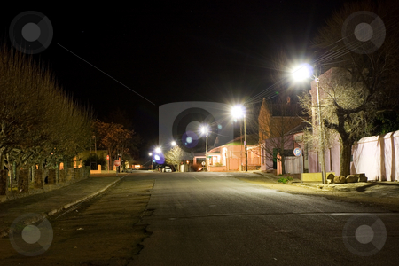 Cape - Colesberg #1 stock photo, Delapidated, small town street, Night scene - Colesberg South Africa by Sean Nel