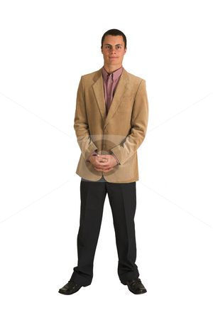 Businessman #190 stock photo, Businessman in a pink shirt and camel coloured jacket, by Sean Nel