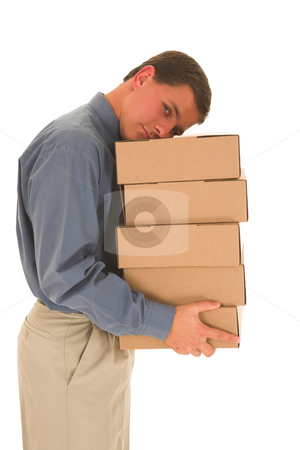 Bussinessman #86 stock photo, Man sleeping on boxes. by Sean Nel
